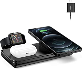 Wireless Charging Station for Apple Products, 18W Fast Wireless Charger for iPhone 12/11/XR/XS Max/Xs/X/8, AirPods Pro, Ch...