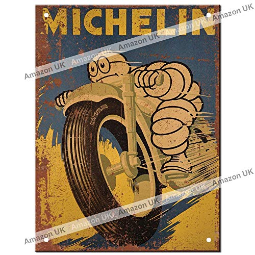Metal Signs - Michelin Man Man Cave Tin Metal Sign Hanging Wall Plaque Kitchen Shed Garage. Small (15cm x 10cm)