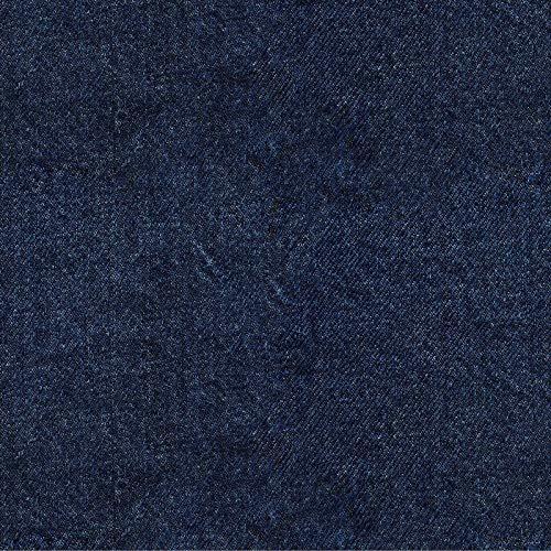 Softshell Stoff mit Denim Optik auf Blau als Meterware zum Nähen, 50 cm