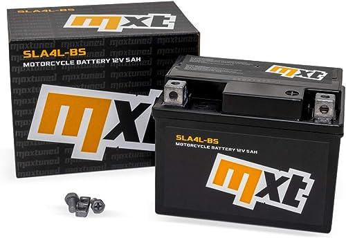 Maxtuned SLA4L-BS Scooter Batterie 12V 5Ah Préchargé Scellé Sans entretien semblable à YTX5L-BS YB4L-B YTX4-BS