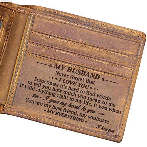 Doptika Husband Engraved Bifold Wallet - You Are My Everything - Best...
