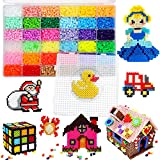 Fuse Beads Craft Kit, 8000 pcs 36 Colors Iron Beads Arts and Crafts Pearler Set for Girls, Boys, Kids Age 5 6 7 Classroom Activity Gift