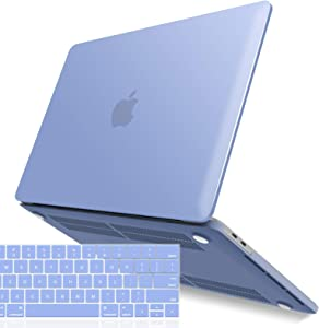 IBENZER New 2020 MacBook Pro 13 Inch Case M1 A2338 A2289 A2251 A2159 A1989 A1706 A1708, Hard Shell Case with Keyboard Cover for Apple Mac Pro 13 Touch Bar(2020-2016), Serenity Blue, T13SRL+1A