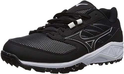 Mizuno Wohommes Dominant All Surface Turf chaussures Softball, noir blanc, 7 B US