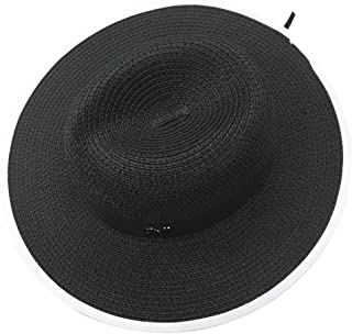 Women Wide Brim Straw Foldable Panama Roll up Summer Hat Beach Sun Hat UPF50+