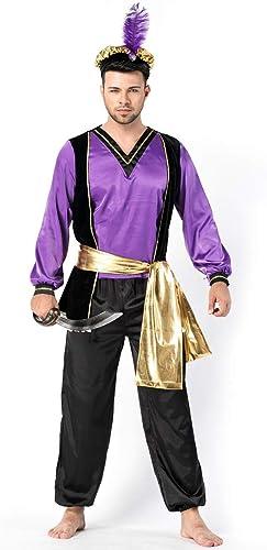 respuestas rápidas YRE Traje árabe de los los los hombres, monarca Juego de rol, Halloween Pascua Etapa Uniforme Traje, Disfraz de Carnaval de Baile de la Mascarada  precio razonable