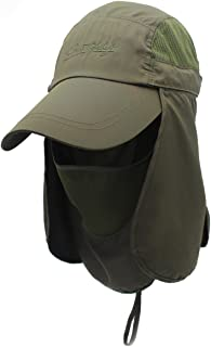 Surblue Quick-Drying Outdoor Cap UV Protection Sun Hats Fishing Hat Neck Face Flap Hat UPF50+