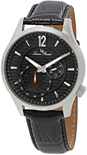 Lucien Piccard Men's 'Burano' Quartz Stainless Steel and Black Leather Casual Watch (Model: LP-40022-014)