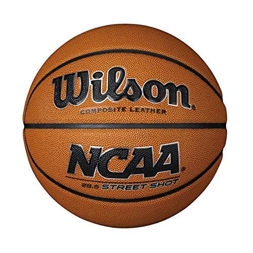 Wilson Outdoor-Basketball, Rauer Untergrund, Asphalt, Kunststoffboden, Größe 6, NCAA STREET SHOT, Braun, WTB0946XB