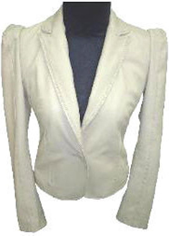 Fadcloset Ladies Stylish Bella White Leather Coat