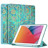 """Fintie SlimShell Case iPad 7th Generation 10.2 Inch 2019 with Built-in Pencil Holder - Lightweight Smart Stand Soft TPU Back Cover, Auto Wake/Sleep for iPad 10.2"""" Tablet, Shades of Blue apple watch cases May, 2021"""