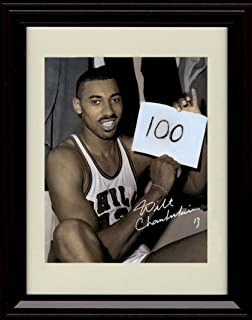 Framed Wilt Chamberlain Autograph Replica Print - Holding 100 Points Scored Sign - Hershey, PA