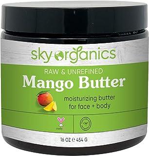 Sponsored Ad - Mango Butter (16 oz) by Sky Organics Raw 100% Pure Unrefined Mango Butter for Face Body and DIY Raw Mango B...