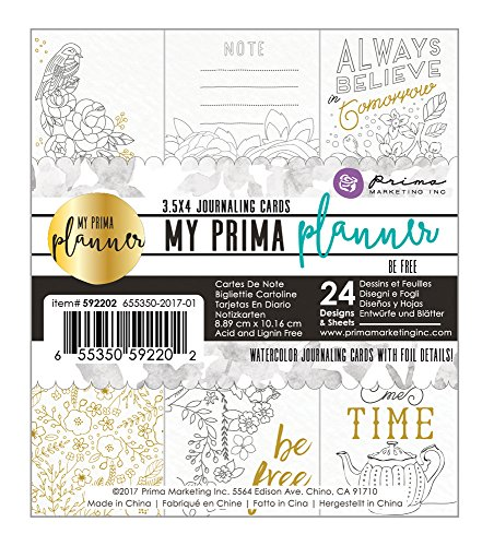 Prima Marketing My Prima Planner Embelishments Coloring Journaling Cards-Be Free