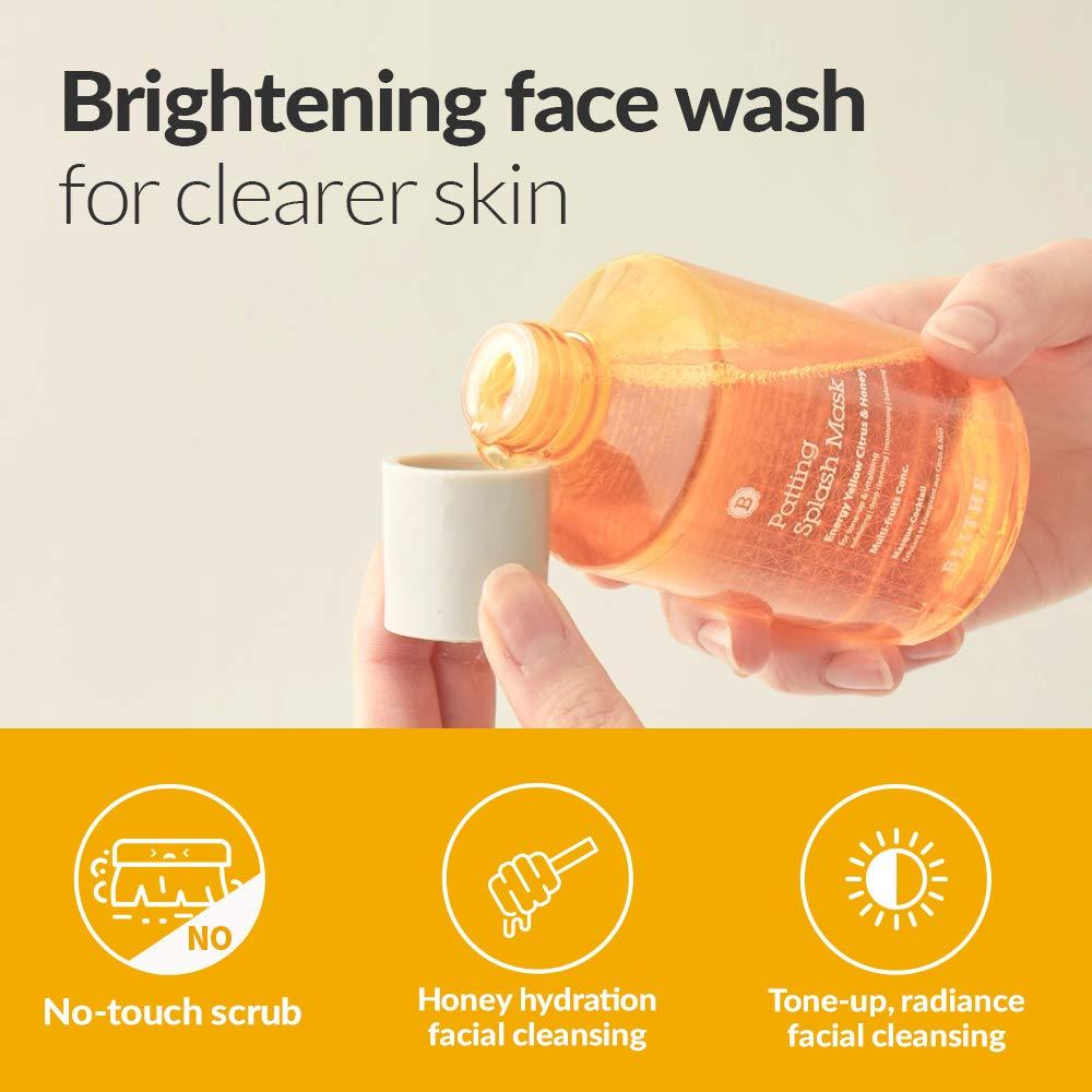Blithe Patting Splash Mask Yellow   Korean Face Exfoliant & Moisturizer  Liquid Facial Mask   Chemical AHA Exfoliant Lactic Acid & Glycolic Peel    ...