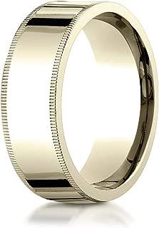 14K Gold, 18K Gold or Platinum Comfort Fit Wedding Band, Men's or Women's, 8MM Width