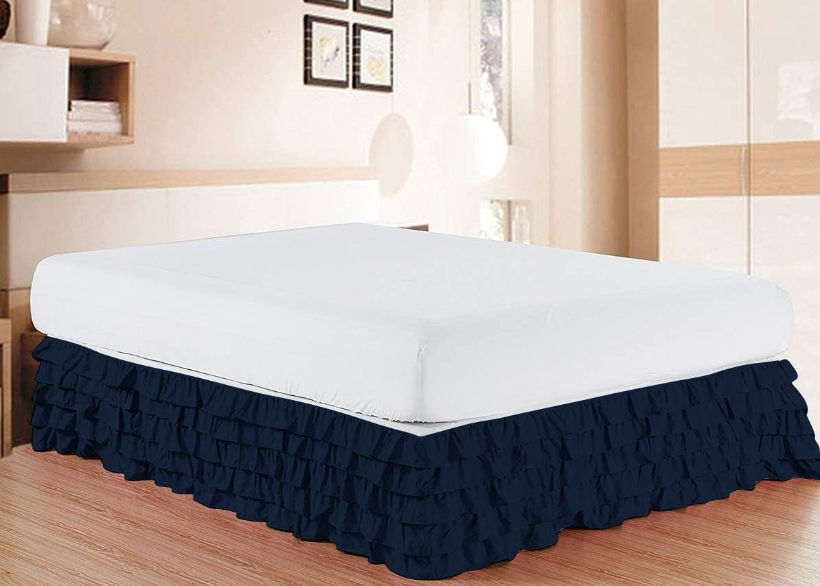 Over item handling ☆ AllinOne Ranking TOP1 Cotton Multi Ruffle BedSkirt Solid Pat Thread Count 800