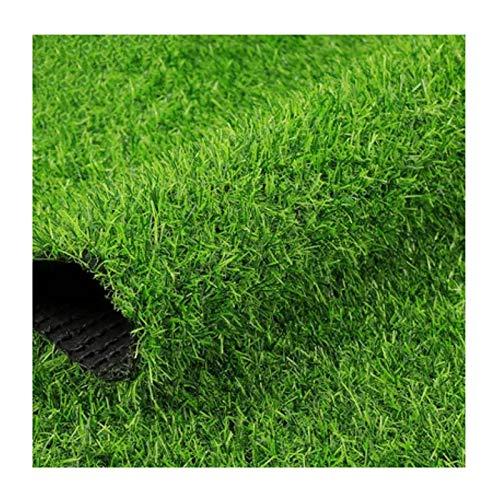 YNFNGXU Alfombra Artificial Verde Hierba Carpert Alfombra 6.5 'x 6.5', Realista Hierba Falsa De Lujo Césped Sintético Césped Grueso Césped Mascota Turf INT(Size:20mm Grass Height- 2m×1m)