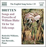 Songs & Proverbs & Tit for Tat & Folk-Songs by BENJAMIN BRITTEN (2012-05-29)