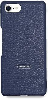 COVERARY AQUOS R compact SHV41 ケース 本革 国産 イタリアン レザー 32色 革 全機種対応 背面 カバー (ブルー) au エーユー