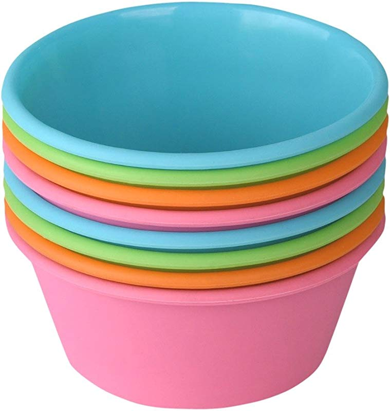 Bakerpan Silicone Mini Cake Pan Large Muffin Cup 3 1 2 Inch Baking Cups Set Of 8