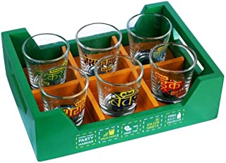 Shot Glass with Killer Tray | Set of 6 Glasses | Diwali Gift Set