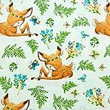 Stoffschreinerei Baumwollstoff (Bambi REH mit