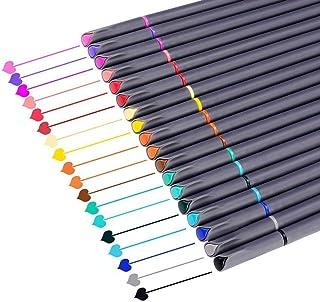 قلمنامه نوشتن برنامه نویس قلم رنگی قلم نقطه علامت گذاری دقیق نقطه نوشتن نقاشی قلم Peneliner قلم زنی برای گلوله مجله نوشتن توجه داشته باشید با استفاده از تقویم برنامه رنگ آمیزی هنر لوازم اداری (18 رنگ)