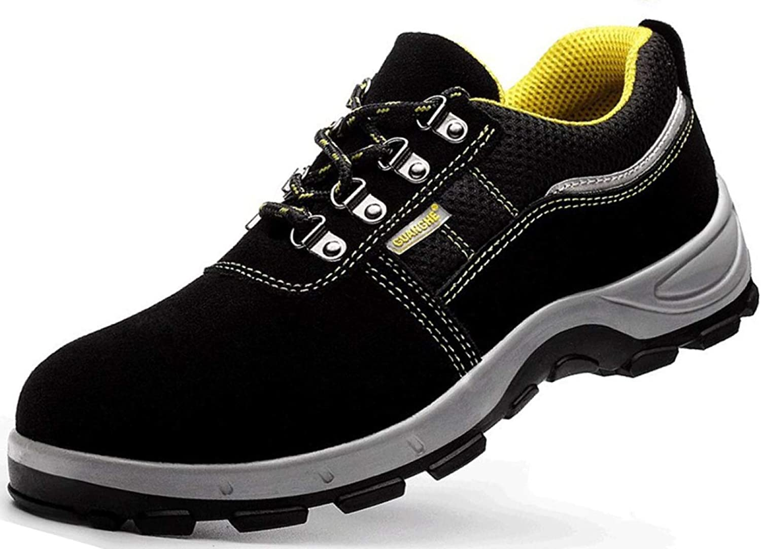 RSHENG shoes For Men's Steel Toe Work Boots Warm Lining Martin Boots Outdoor Leisure Walking shoes