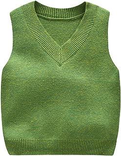 green toddler sweater vest