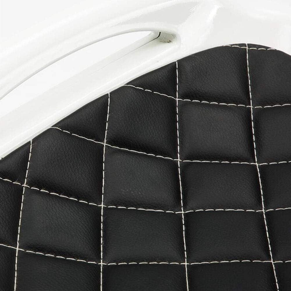 DALL Tabouret De Bar Siège en PU Jambes en Métal Tabouret De Salle À Manger Moderne Élégant Tabouret Haut Cuisine Salle À Manger Chaise De Réception (Color : Black 2) Black 2