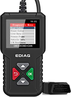 EDIAG OBD2 Scanner YA-101 Enhanced OBDII Diagnostic Scan Tool Automotive Code Reader Checks Engine Light,O2 Sensor and EVAP Systems, On-Board Monitor Test(Mode 6)-Lifetime Free Update