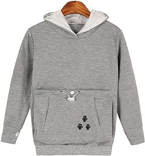 Unisex Children Youth Cat Ear Big Kangaroo Pouch Hoodie Long Sleeve Pet Cat Dog Holder Carrier Sweatshirt Pullover