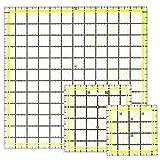 Acryl-Quilter-Lineal, 3 Größen, 11,4 cm & 15,2 cm & 32,3 cm, quadratisches Nählineal für einfaches Präzisionsschneiden, Quilten, Nähen, Heimwerken