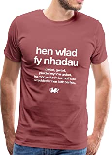 Spreadshirt Wales Rugby Fy Nhadau Men's T-Shirt