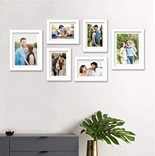 Art Street Individual Wall Photo Frames Wall Hanging (White, Mix Size, 4 Units 6X8, 2 Units 8X10 inch) Hanging Accessories...