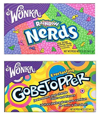 Wonka Lovers gemischtes Kino Pack - Nerds - Gobstoppers