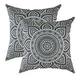 TreeWool Dekorativer Kissenbezug Mandala Design 100% Baumwolle
