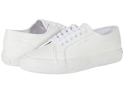 Superga 2750 Syntcrocod Sneaker (White Croco) Women