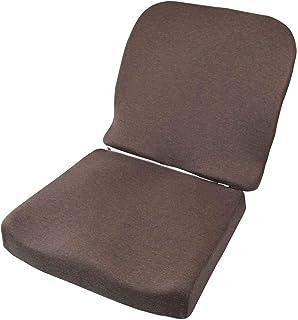 ファイン クッション 座布団 チェアパット 腰楽 ピタらくクッション  低反発 取り外し可能 背もたれ付き  カバー洗濯可  FIN-753Lo
