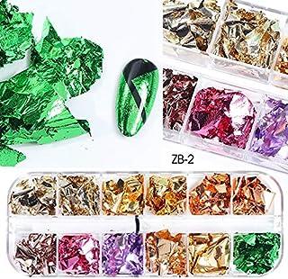 Spijker glitter Aluminium Nail pailletten Glitter Flakes Onregelmatige Spiegel Paillette tipping papier Manicure Nail Deco...