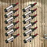 AERVEAL Fábrica Montado Estilo Europeo Vino Vino Estante de exhibición de vino Estante Organizador de la botella,Color,8 capas Brown Tilt