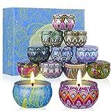 12 Velas Aromaticas Perfumadas Regalos con 180-240 Horas para Fragancia Casera, Relajación y Alivio De Estrés, Regalos para Mujer, Niña