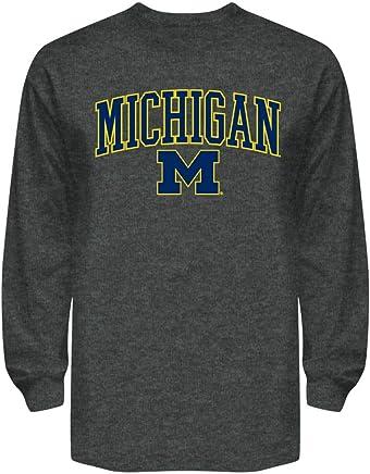 Elite Fan Shop NCAA Long Sleeve Shirt Dark Heather Arch
