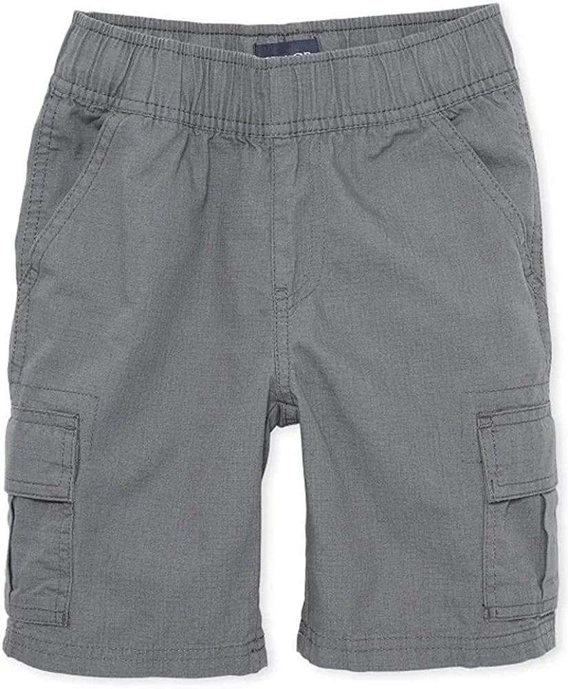 The Children's Place Boys' Uniform Pull on Cargo Shorts
