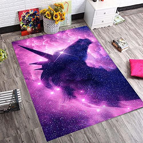 Alfombra De áRea Animal Fluorescente Negro Blanco púrpura Alfombra Antideslizante alfombras Salon...