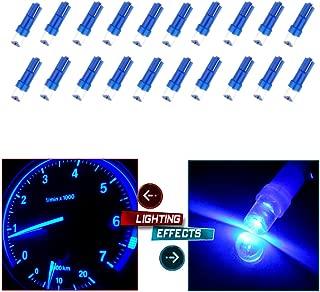 cciyu 20 Pack Blue T5 Instrument Cluster Panel Gauge Dash LED Bulb light 17 57 37 73 74