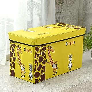 ZXXFR Panier À Linge Sale Corbeilles À Linge,Cartoon Girafe Jaune Tabouret De Rangement avec Poignée Paniers À Linge Pliab...