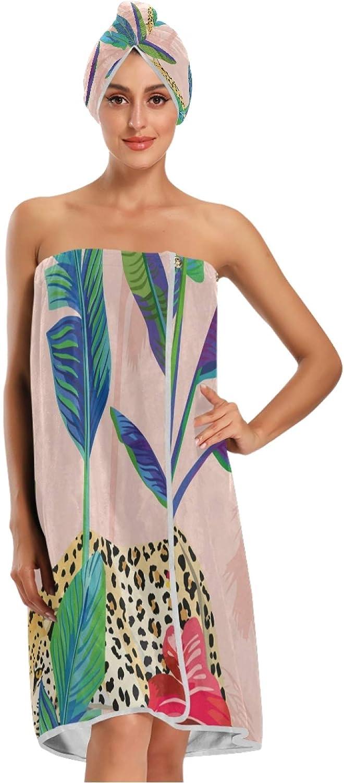 Calmd Vintage Flower Banana Leaf Women with Towel Quality inspection Spa Wrap Fort Worth Mall Bath