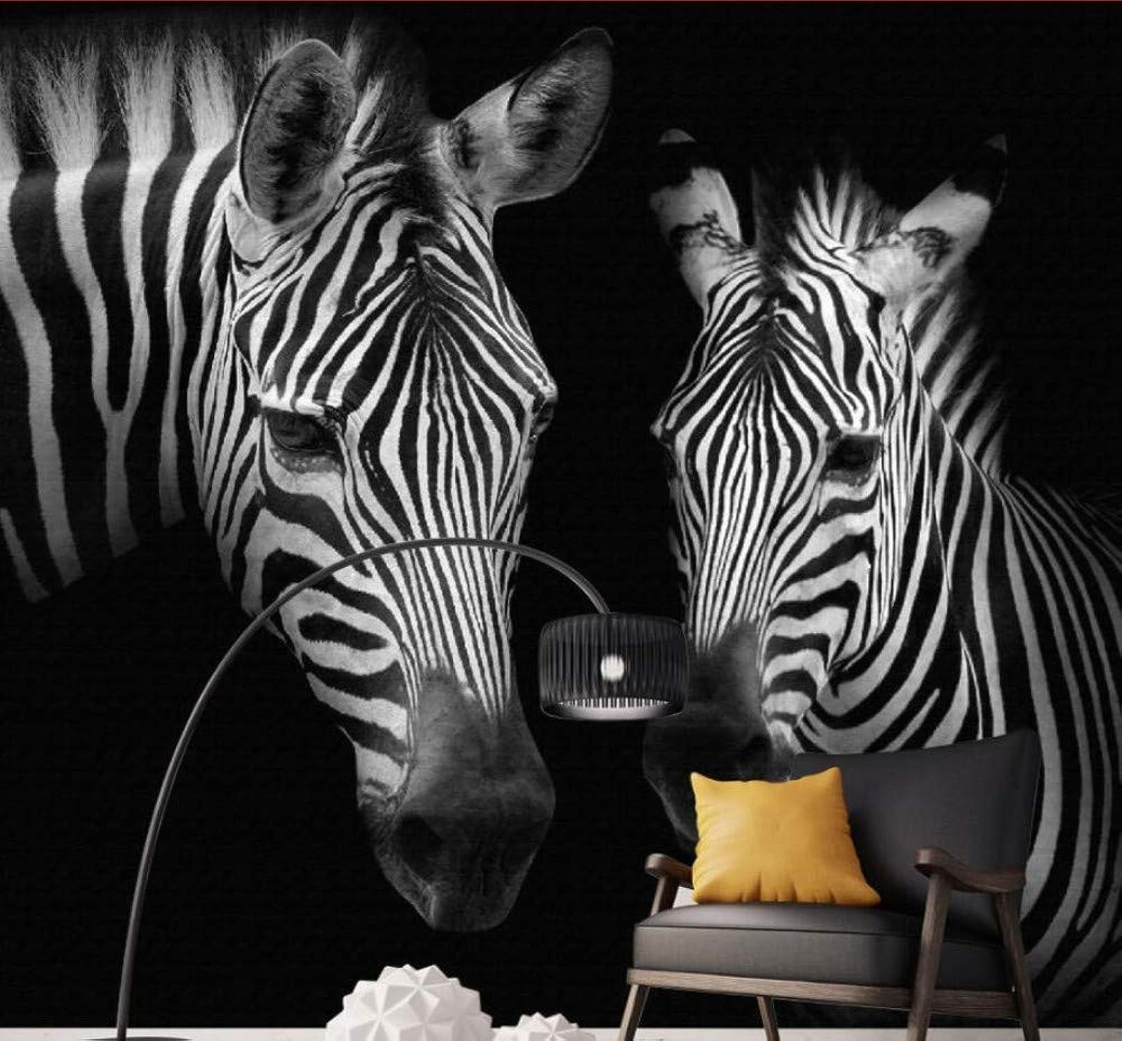 Felices compras Mural De Papel Tapiz 3D Mural De Papel Papel Papel Tapiz Retro Vintage blancoo Y Negro Mural De Cebra Fondo Parojoes Papel Tapiz 3D, 200Cmx140Cm  Entrega rápida y envío gratis en todos los pedidos.